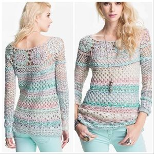 FREE PEOPLE Ring of Roses crocheted sweater, S.